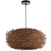 Lámpara Colgante Natural Nido 1 Luz E27