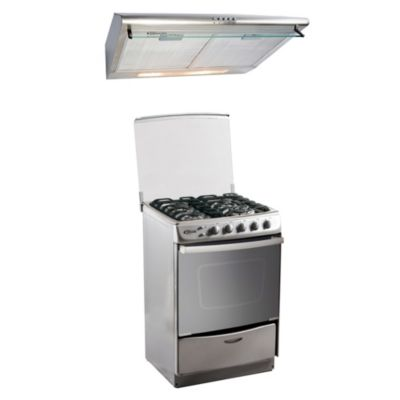 Combo Cocina de Pie Tedesca + Campana Extractora CK601IX
