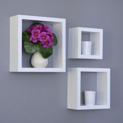 Cubo Decorativo Zerpy 25x25cm Blanco