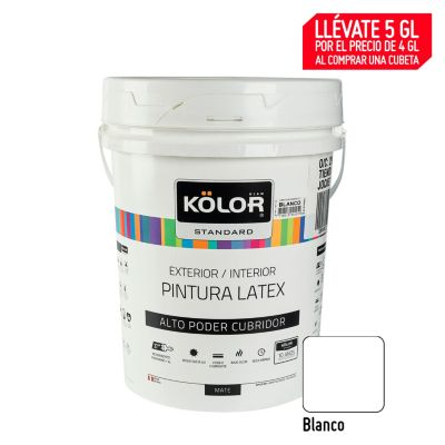 Pintura Látex Standard 20L Blanco
