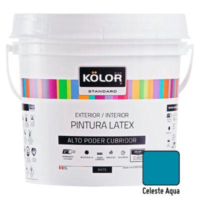 Pintura Látex Standard 4L Celeste Aqua