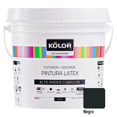 Pintura Látex Standard 4L Negro
