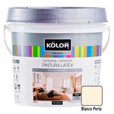 Pintura Látex Satinado 4L Blanco Perla