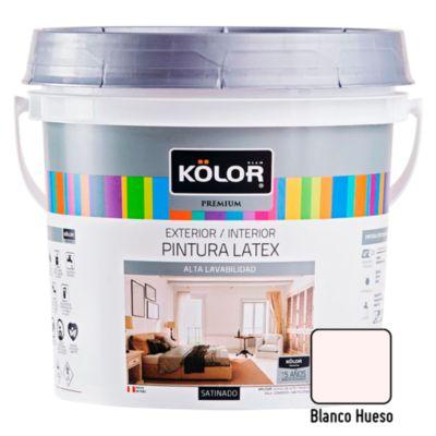 Pintura Látex Satinado 4L Blanco Hueso