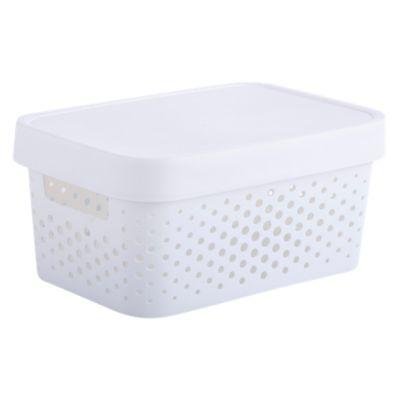 Canasto C/Tapa Grande Blanco 4.5L