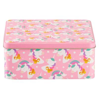 Caja Cuadrada Unicornio 20x20x8cm