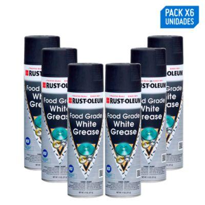 Pack x6 Lubricante en aerosol Grasa Blanca grado alimenticio 311g/11oz