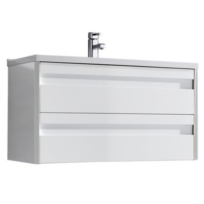 Mueble Bajo 60cm 2 Cajones Blanco