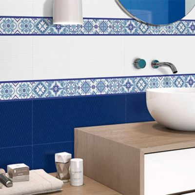 Listelo Antik Azul 8.8x44cm