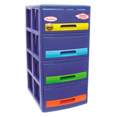 Cómoda Cabinet X4 Azul Tropical