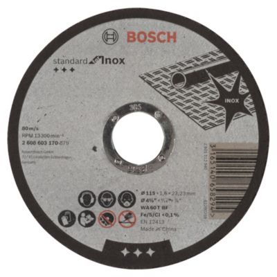 Disco Abrasivo Corte Inox 115x1.6x