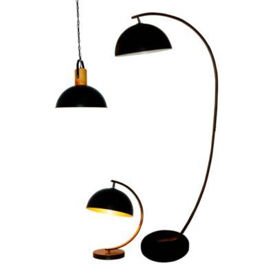 Combo Lámpara de Pie Bissen 1L E27 + Lámpara Colgante Bissen 1L E27 + Lámpara de Mesa Bissen 1L E27