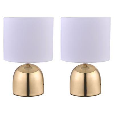 Set 2 Lámparas de Escritorio Dorado
