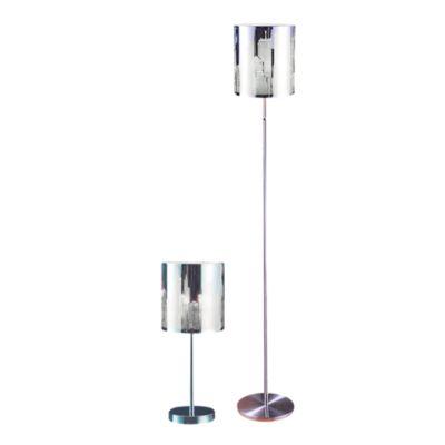 Combo Lámpara de Pie Clover 1 Luz + Lámpara de Mesa Clover Níquel