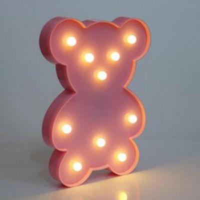 Luminaria Decorativa Marquee Oso Rosa LC