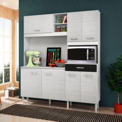 Mueble de cocina Milos Blanco/Negro