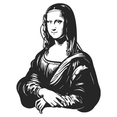 Vinilo Mona Lisa Negro 80x105cm