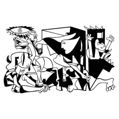 Vinilo Guernica Negro 120x72cm