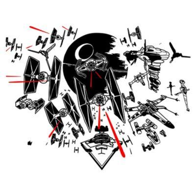 Vinilo Batalla Star Wars Negro 125x98cm