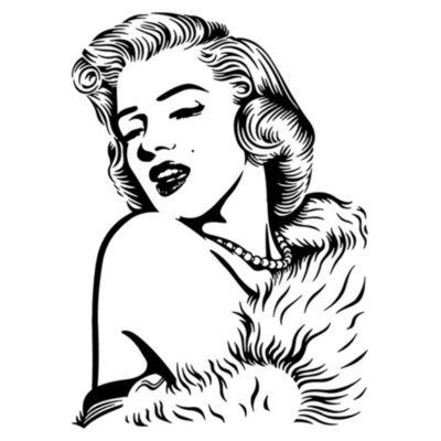 Vinilo Marilyn Monroe Negro 58x80cm