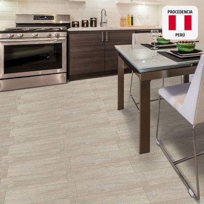 Cerámica Parketon Premium Grey Maderado 20x61cm para piso o pared