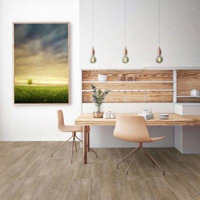 Cerámica Parketon Premium Nut Maderado 20x61cm para piso o pared