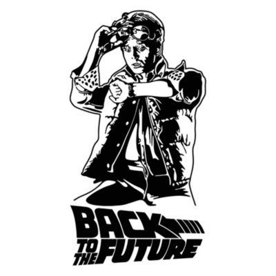 Vinilo Regreso Al Futuro Negro Medida P
