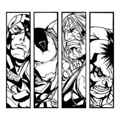 Vinilo Avengers Negro Medida G