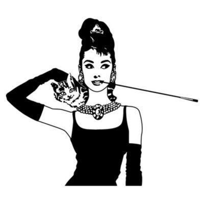 Vinilo Desayuno En Tiffanys Negro Medida M