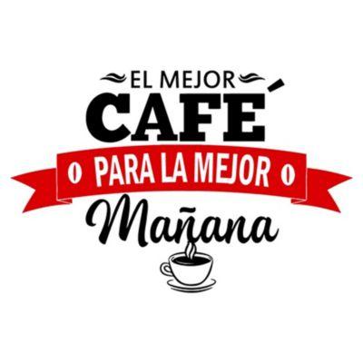 Vinilo El Mejor Café Negro, Rojo Medida G