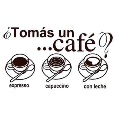 Vinilo Tomate Un Café Negro Medida M