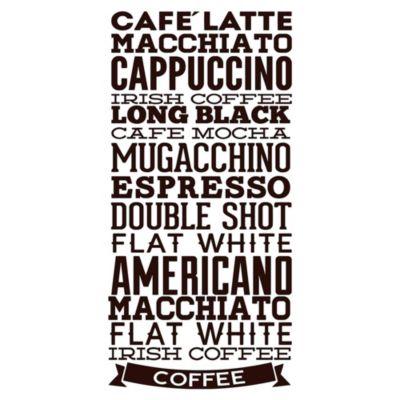 Vinilo Tipos De Café Negro Medida G