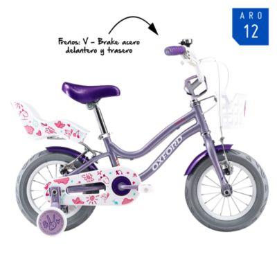 Bicicleta Infantil Beauty Lila Aro 12