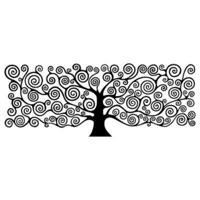 Vinilo Árbol de la Vida Klimt 1 Negro Medida P
