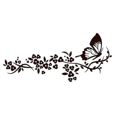 Vinilo Rastro de Mariposa Negro Medida M