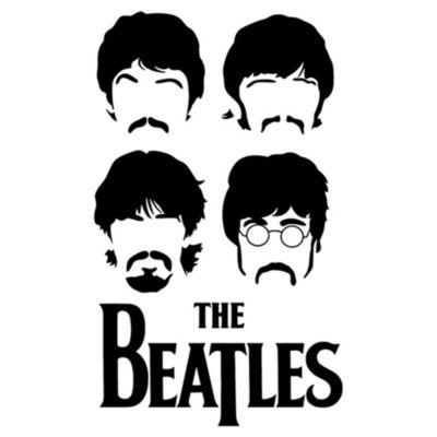 Vinilo The Beatles Negro Medida M