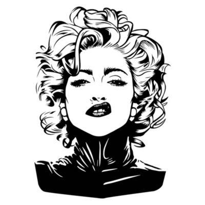 Vinilo Madonna Negro Medida G
