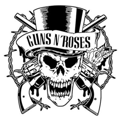 Vinilo Calavera Guns N Roses Negro Medida P