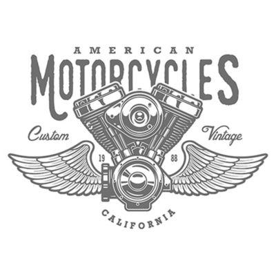 Vinilo American Motorcycles Negro Medida P