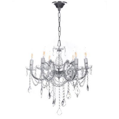 Lámpara Colgante Cristal HQ 6 Luces E14