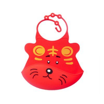 Babero de Silicona Tigre Rojo