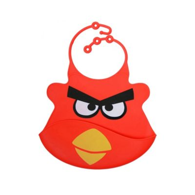 Babero de Silicona Bird Rojo