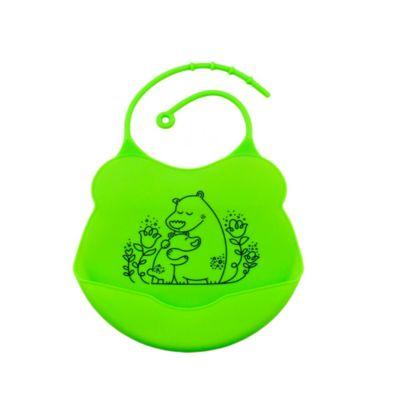 Babero de Silicona Oso Verde
