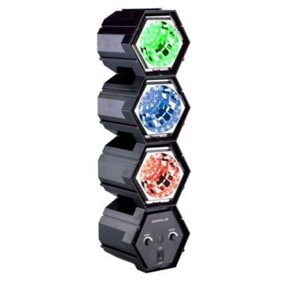 Lámpara de fiesta 3 focos de colores