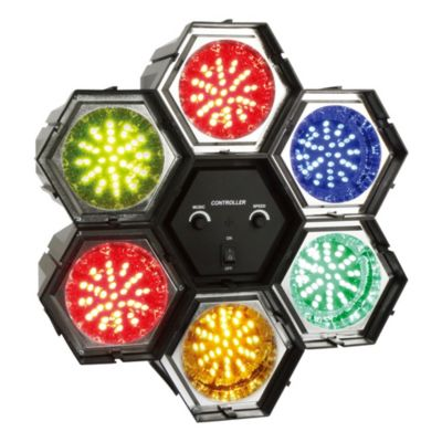 Lámpara de fiesta 6 focos de colores