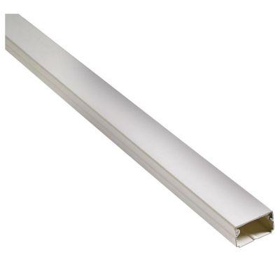 Canaleta 25 x 25 mm PVC Sin Adhesivo Blanco