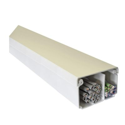 Canaleta 60 x 40 mm PVC Sin Adhesivo Blanco