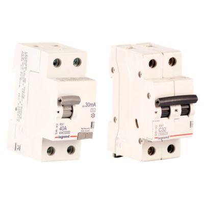 Interruptor Diferencial 2x40A Legrand + Interruptor Termomagnético 2x32A Legrand
