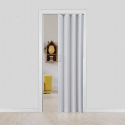 Puerta Plegable Facil PVC 81 x 200 Blanca