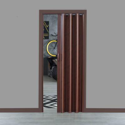 Puerta Plegable PVC 81cm Castaño